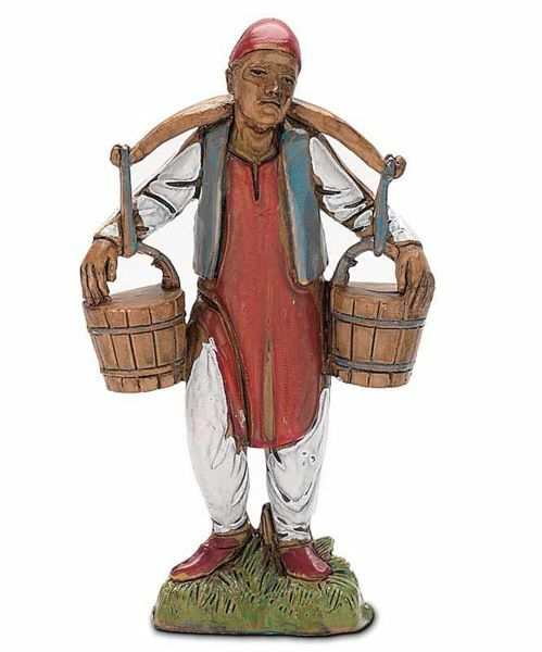 Picture of Man with Jugs cm 10 (3,9 inch) Landi Moranduzzo Nativity Scene in PVC, Neapolitan style