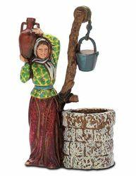 Imagen de Mujer al Pozo cm 10 (3,9 inch) Belén Landi Moranduzzo en PVC, estilo Napolitano