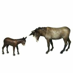 Picture of Donkey & little Donkey cm 8 (3,1 inch) Landi Moranduzzo Nativity Scene in PVC, Neapolitan style