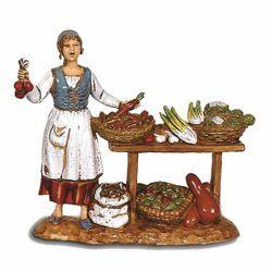 Picture of Greengrocer cm 8 (3,1 inch) Landi Moranduzzo Nativity Scene in PVC, Neapolitan style