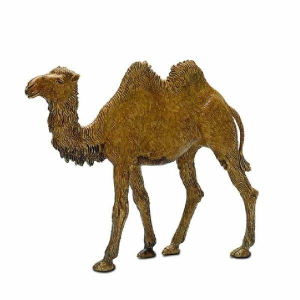Immagine di Cammello in piedi cm 10 (3,9 inch) Presepe Landi Moranduzzo in plastica (PVC) in stile Napoletano o Arabo