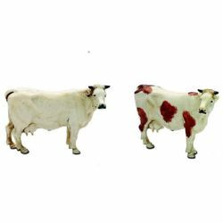 Picture of 2 Cows Set cm 10 (3,9 inch) Landi Moranduzzo Nativity Scene plastic (PVC) in Arabic or Neapolitan style