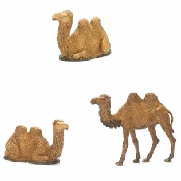 Imagen de Grupo 3 Camellos cm 10 (3,9 inch) Belén Landi Moranduzzo en plástico (PVC) de estilo árabe o Napolitano