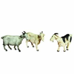 Picture of 3 Goats Set cm 10 (3,9 inch) Landi Moranduzzo Nativity Scene plastic (PVC) in Arabic or Neapolitan style
