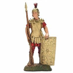 Picture of Centurion with Buckler cm 10 (3,9 inch) Landi Moranduzzo Nativity Scene in PVC, Neapolitan style