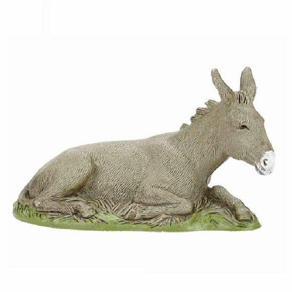 Picture of Donkey cm 10 (3,9 inch) Landi Moranduzzo Nativity Scene in PVC, Neapolitan style