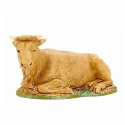 Picture of Ox cm 10 (3,9 inch) Landi Moranduzzo Nativity Scene in PVC, Neapolitan style