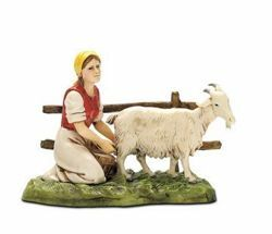 Picture of Woman with Goat cm 10 (3,9 inch) Landi Moranduzzo Nativity Scene in PVC, Neapolitan style