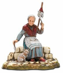 Picture of Spinner cm 10 (3,9 inch) Landi Moranduzzo Nativity Scene in PVC, Neapolitan style