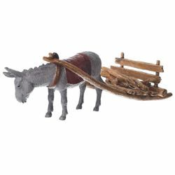 Picture of Carriage with Donkey cm 10 (3,9 inch) Landi Moranduzzo Nativity Scene plastic (PVC) in Arabic or Neapolitan style