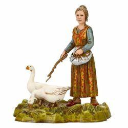 Picture of Woman with Goose cm 10 (3,9 inch) Landi Moranduzzo Nativity Scene in PVC, Neapolitan style
