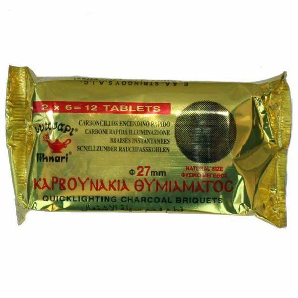 Imagen de Carboncillos para Incienso diam. 27 mm (1,1 inch) 12 piezas encendino rápido