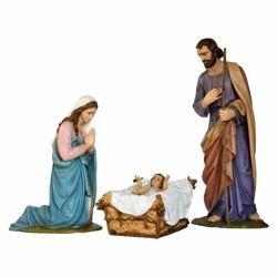 Immagine di Gruppo Natività Sacra Famiglia 4 pezzi cm 160 (63 inch) Presepe Landi Moranduzzo in vetroresina stile Arabo