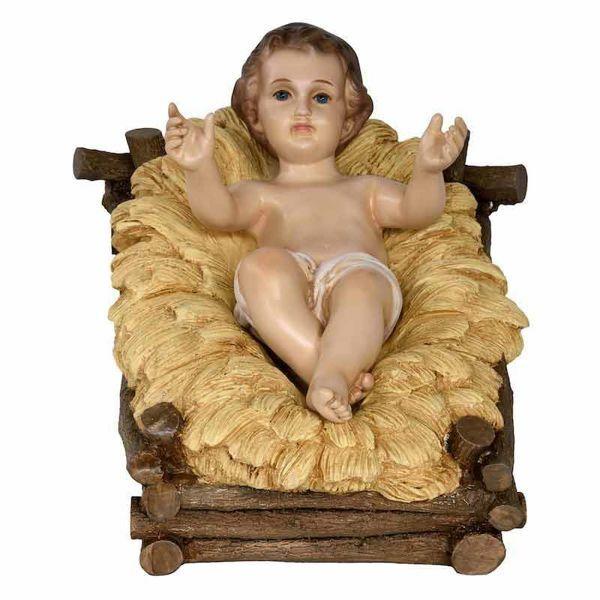 Imagen de Niño Jesús cm 100 (39 inch) Belén Landi Moranduzzo en fibra de vidrio, estilo árabe