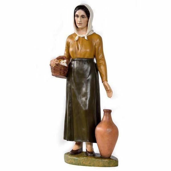 Imagen de Pastora con Jarras cm 100 (39 inch) Belén Landi Moranduzzo en fibra de vidrio, estilo árabe