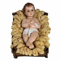 Picture of Decorated Cradle cm 65 (25,6 inch) Landi Moranduzzo Nativity Scene in fiberglass, Arabic style