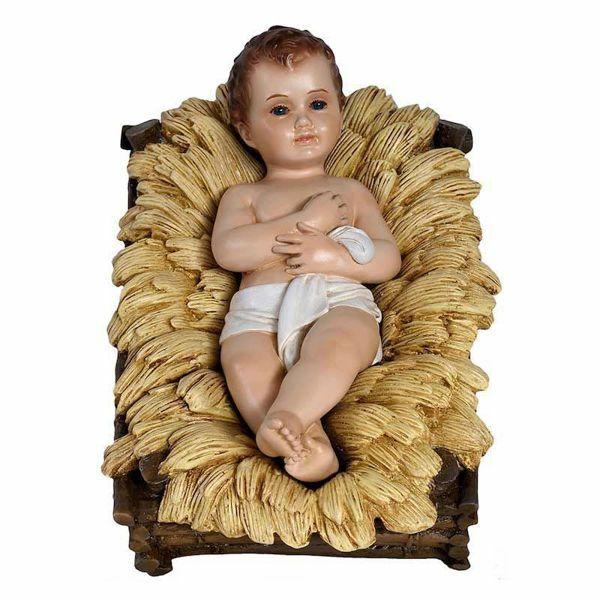 Picture of Decorated Cradle cm 65 (25,6 inch) Landi Moranduzzo Nativity Scene in fiberglass, Arabic style