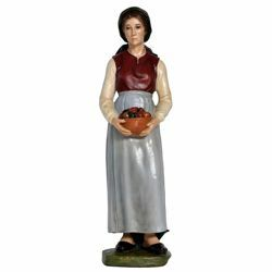 Picture of Shepherdess with Fruit cm 65 (25,6 inch) Landi Moranduzzo Nativity Scene in fiberglass, Arabic style