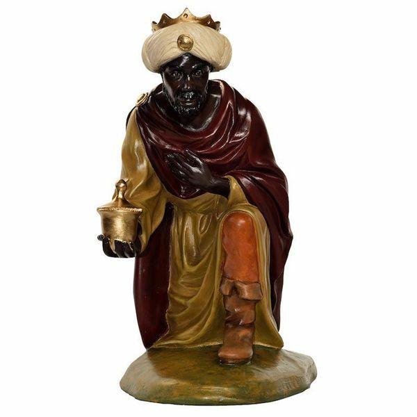 Picture of Balthazar Wise King Black cm 65 (25,6 inch) Landi Moranduzzo Nativity Scene in fiberglass, Arabic style