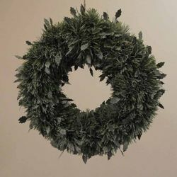 Picture of Holly Christmas Wreath diam. cm 35 (13,8 inch) green Snow Flocked plastic PVC