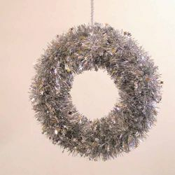 Picture of Christmas Wreath diam. cm 35 (13,8 inch) Silver plastic PVC