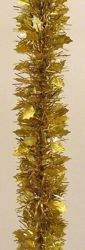 Picture of Holly Christmas Garland L. 10 m (395 inch), diam. cm 8 (3,1 inch) gold plastic PVC