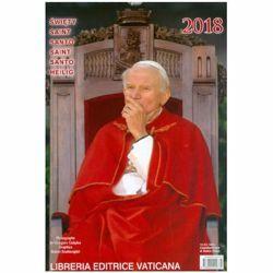 Picture of Calendario Ufficiale San Giovanni Paolo II 2018, cm 21x30 da muro