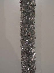 Imagen de Guirnalda navideña L. 10 m (395 inch), diám. cm 8 (3,1 inch) plata en plástico PVC