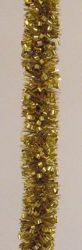 Imagen de Guirnalda navideña L. 10 m (395 inch), diám. cm 8 (3,1 inch) oro en plástico PVC