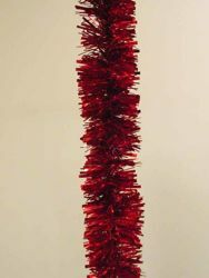 Picture of Christmas Garland L. 10 m (395 inch), diam. cm 8 (3,1 inch) red plastic PVC