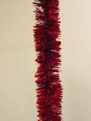 Immagine di Ghirlanda natalizia L. 10 m (395 inch), Diam. cm 8 (3,1 inch) rossa in plastica PVC