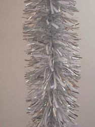 Picture of Christmas Garland L. 5 m (198 inch), diam. cm 15 (5,9 inch) white and silver plastic PVC
