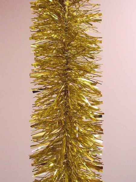 Picture of Christmas Garland L. 5 m (198 inch), diam. cm 15 (5,9 inch) gold plastic PVC
