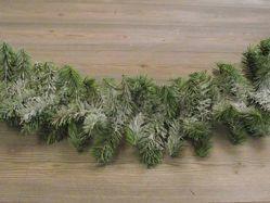 Imagen de Guirnalda navideña Rama de Pino L. 2 m (79 inch), diám. cm 15 (5,9 inch) verde nevada en plástico PVC