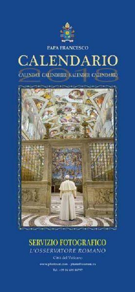 Calendario Da Parete Grande.Calendario Ufficiale Grande Papa Francesco 2018 Da Parete Cm 50 X 23