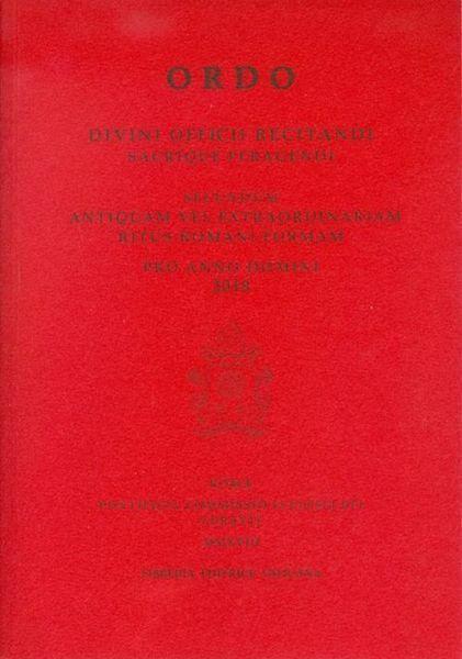 Ordo Divini Officii Recitandi Sacrique Peragendi 2018 LEV Libreria Editrice Vaticana
