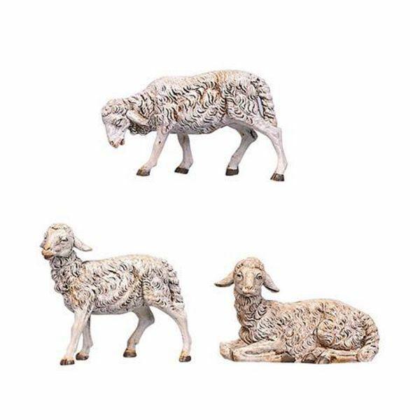 Immagine di Gruppo 12 Pecore cm 30 (12 Inch) Presepe Fontanini Statua in Plastica dipinta a mano