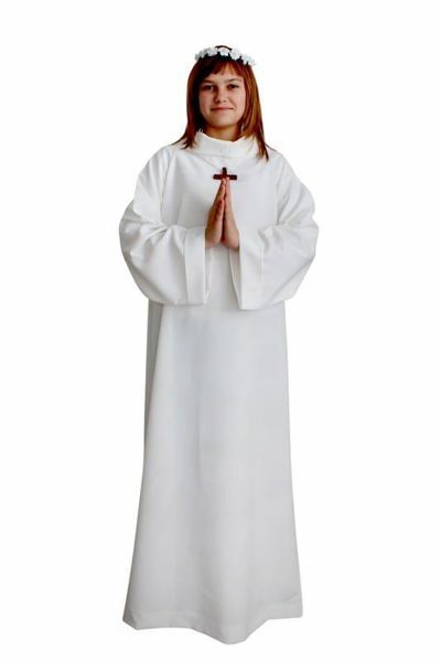 Picture of First Communion Alb Economy boys girls Raglan sleeve Polyester Tunic