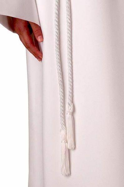 Immagine di Cingolo bianco per Tunica Prima Comunione Cintura con Fiocco