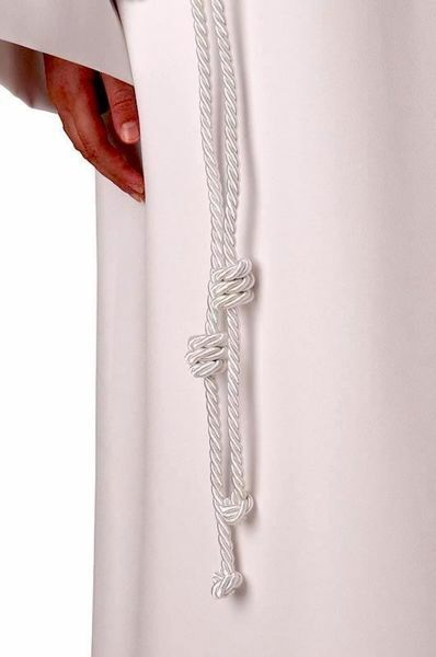 Picture of White Cincture with knot for First Communion Tunic dress