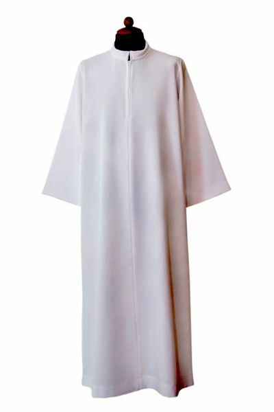 Picture of Flared Priestly Alb with turned Collar Polyester Liturgical Tunic