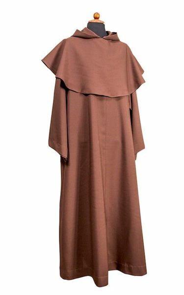Imagen de Alba Sacerdotal Franciscana Manto Poliéster Túnica litúrgica