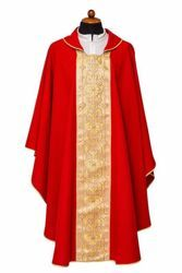 Picture of Liturgical Chasuble front Stole Polyester Ivory Violet Red Green