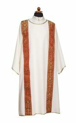 Picture of Deacon Liturgical Dalmatic front Galloon pure Polyester