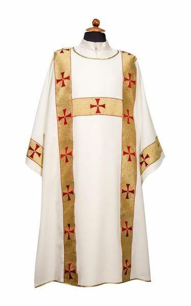 Imagen de Dalmática litúrgica Diácono Galón delante de puro Poliéster