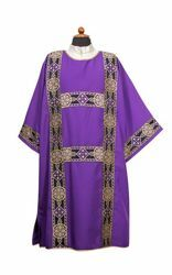 Picture of Deacon Liturgical Dalmatic front and back Galloon pure Polyester