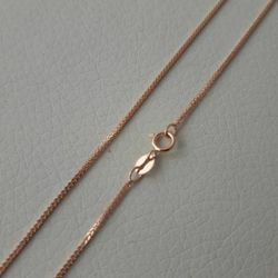 Picture of Wheat Chain Necklace Rose Gold 18 kt cm 45 (17,7 in) Unisex Woman Man