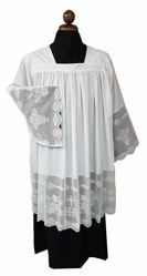 Picture of Priestly Surplice lace embroidered IHS white Cotton blend