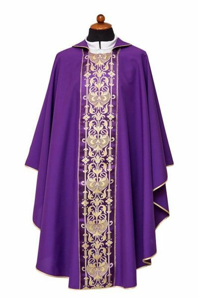 Picture of Liturgical Chasuble Stole Polyester Ivory Violet Red Green