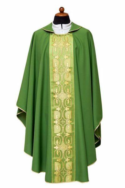 Imagen de Casulla litúrgica Estolón Poliéster Marfil Morado Rojo Verde